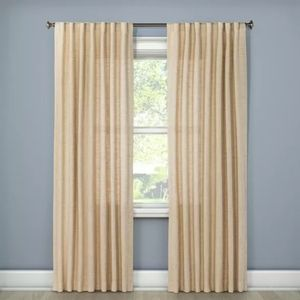 Woven Back Tab Curtain Panel